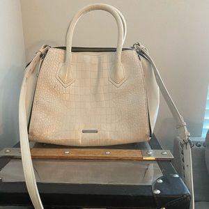 Rebecca Minkoff Cream snakeskin purse